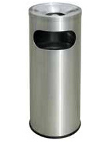Stainless Steel Ashtray and Waste Bin