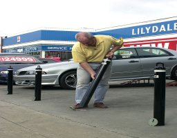 How to Place Removable Bollards
