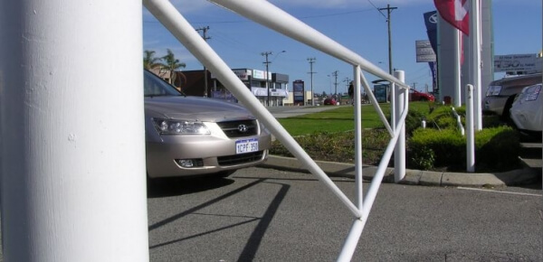 Manual Swing Gate Manual Access Gates Perth Image Bollards