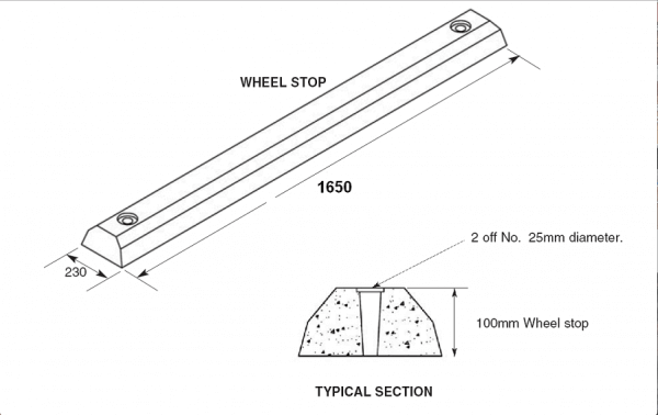 concrete wheel stops