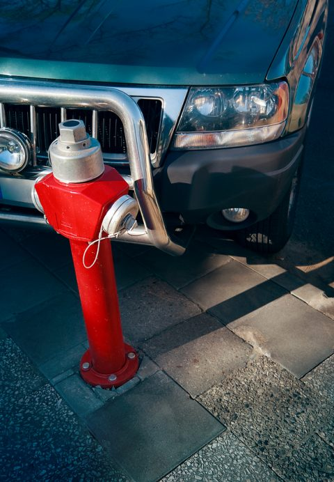 Car Parking in front of Fire Hydrant