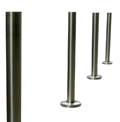 Stainless Steel Permanent Surface Mount Bollards