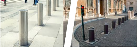 fixed bollards vs automatic bollards